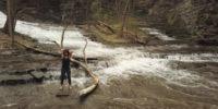 Kathy Lucas at Cascadilla Gorge, Ithaca, NY